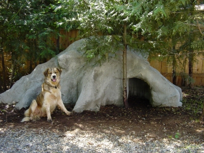 custom dog houses the dog cave house